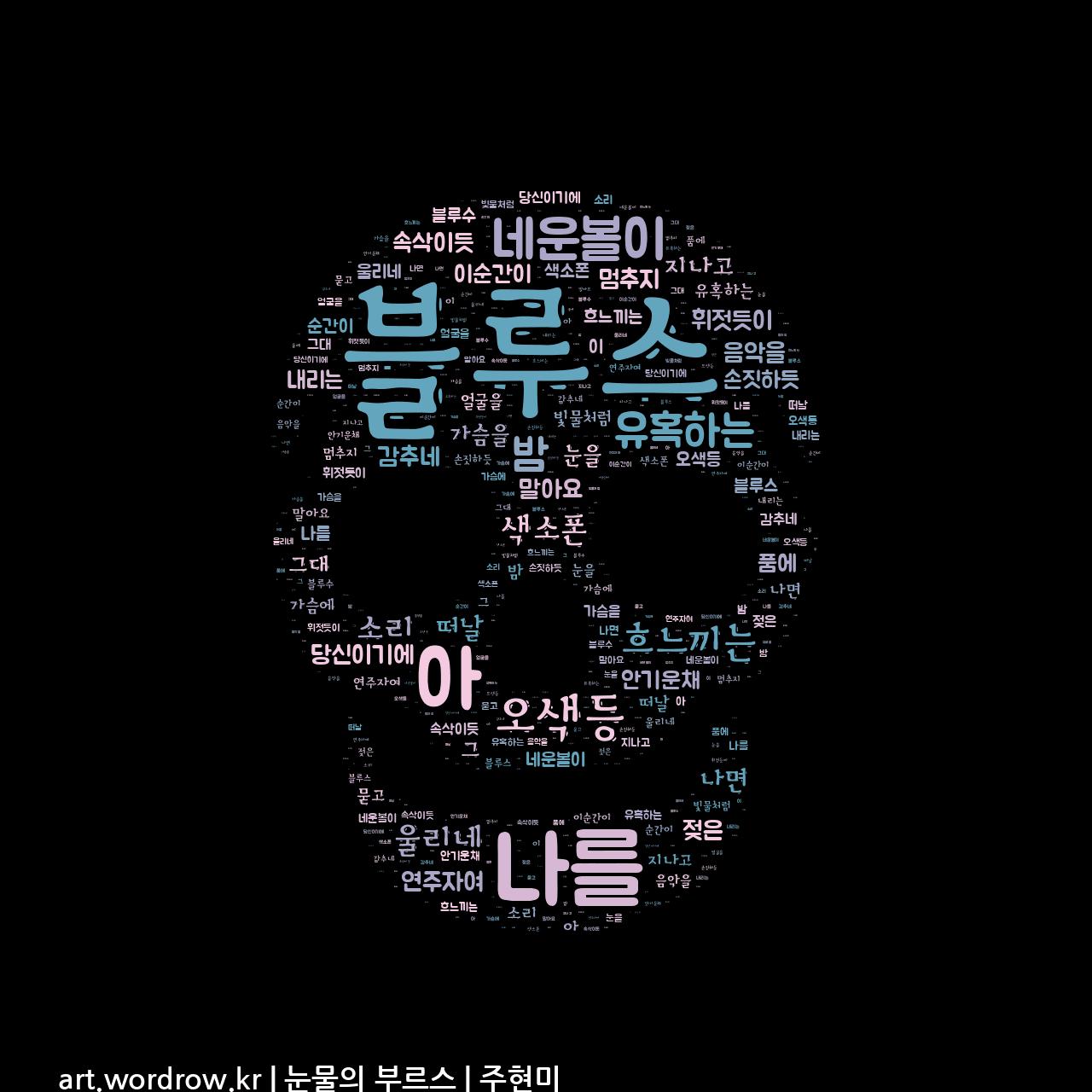 워드 아트: 눈물의 부르스 [주현미]-54